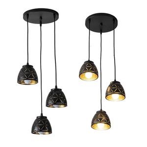 Nordic Iron LED Pendelleuchten Vintage Schwarz Moderne LED Hängende Pendelleuchte für Wohnzimmer Restaurant Home Loft Dekor Leuchten