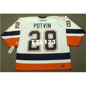 740 # 28 Феликс Потвин Нью-Йорк Острове 1999 Хоккей Хоккей Джерси или пользовательское имя или номер ретро Джерси