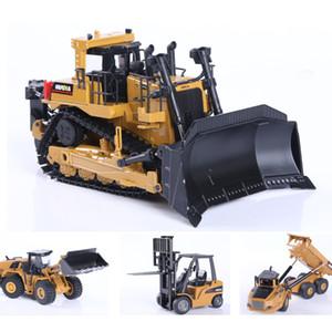 Huina 1:50 Modelo Diecast Simulação de Liga de Liga Carro Die-Cast Dump Dump Truck Bulldozer Roda Loader Escavadora Kids Brinquedo Colecionáveis Y1130