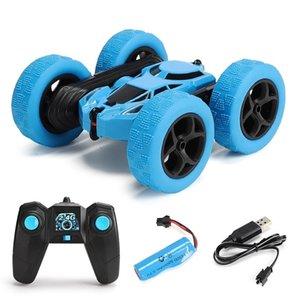 RC Car 360 grados Flip de doble cara Deformation Drift Car Rock Crawler Kid Robot Control remoto de alta velocidad Juguetes para automóviles para niños 201103