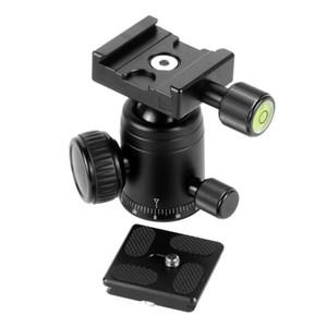 360 Rotaion Aluminum Alloy Camera Tripod Ball Head + QR Quick Release Plate Mount for DSLR Camera Photo Video Studio Accessory
