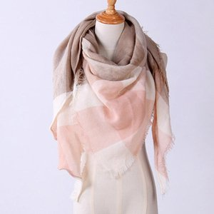 25# 2020 New Fashion Winter Warm Scarf For Women Pashmina Shawl Cashmere Plaid Scarves Blanket Shawls scarf