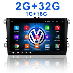 Android 2din ل VW / Volkswagen / Golf / Polo / Tiguan / Passat / B7 / B6 / Leon / Skoda / Octavia Radio Car GPS 2 DIN Car Multimedia Player