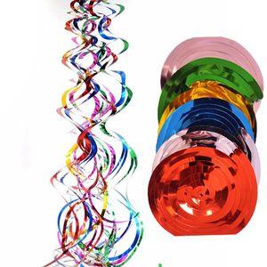 6 teile / sack Valentinstag Happy Birthday Spirale Anhänger Decke Hängende Girlande PVC Strudel Party Home Holiday Decoration Mibbon
