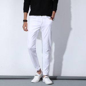 Men's Jeans Luxury Men White Fashion Casual Classic Style Slim Fit Soft Trousers Male Brand Advanced Stretch Denim Pants