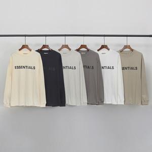 Hip Hop Ön Logo Tee Serin Kaykay T Gömlek Erkekler Kadınlar Pamuk Uzun Kollu Rahat Tshirt