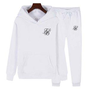 SIK Seta con cappuccio Nuova felpa con cappuccio + Pantaloni da 2 pezzi Sport da donna