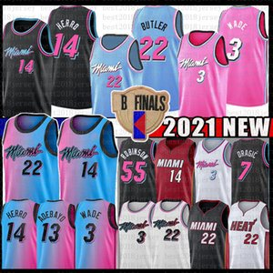 Bam 13 Jimmy Tyler 22 Butler 14 Herro Adebayo Basketball Jersey MiamiCalor55 Dwayne Dwyane 3 Wade Goran Duncan Duncan Robinson Nunn