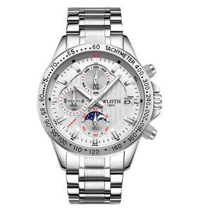 Мода Wathces 2021 роскошные кварцевые мужские часы из нержавеющей стали Спортивные стальные погружения Ручные часы Diamond Day Date Wrist Watch Wach Relog Hombre