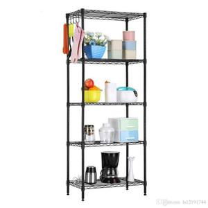 "60""x22""x12""Heavy Duty 5 Layer Wire Shelving Rack Adjustable Shelf Storage Holder"