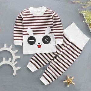 Kinderbaumwolle Unterwäsche Hohe Taille Bauchpflege Hosen Set Jungen Mädchen Baby Frühling und Herbst Winter Kleidung