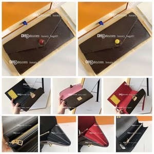 5A 2021 Top quality luxurys designers bag Envelope clip fashion pocke women bags leather wallet lady ladies long purse with box card