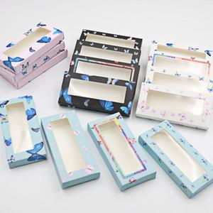 Neue 50/100 stücke Leere Wimpern Verpackung Weiche Papier Wimpern Box Design Schmetterling für 25mm Streifen Wimpern 3d Mink Wimpern ohne Fach