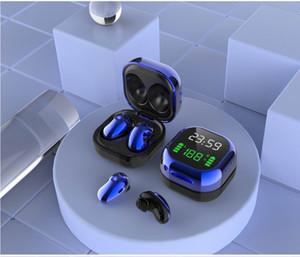 1 шт. S6 PLUS Гарнитура Bluetooth наушники 5.1 TWS Earbuds Светодиодный дисплей 6D IPX4 Водонепроницаемые беспроводные наушники с микрофоном Hunfree
