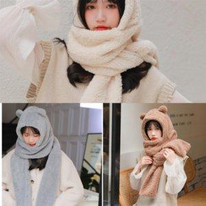 Süper Amerika'nın son kış kalite kadın eşarp ve beyaz ipek küçük ayı eşarp satan sevimli boya dikdörtgen ipek pamuk sca