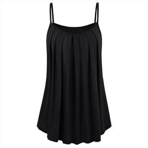 2019 New Summer Sleeveless Sexy Spaghetti Strap Women T Shirts Black Blue Wine Red Tops Tees Female Slash Neck Loose T Shirt