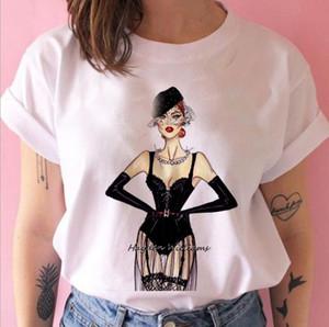 Moda Vog Prenses T Gömlek Kadın Kız 90 S TShirt Harajuku Ulzzang Baskı Grafik Yaz Beyaz Tişört Üst Tee Kadın