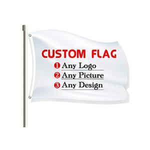 الأعلام المخصصة لافتات رخيصة 100٪ البوليستر 3x5ft الطباعة الرقمية داخلي في الهواء الطلق الإعلان جودة عالية تعزيز مع الحلقات النحاسية