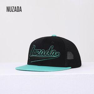 2020 NEW NUZADA Original Men Women Hip Hop Cap Dimensional Embroidery Cotton Mesh Hats Spring Summer Breathable Mesh Couple Caps