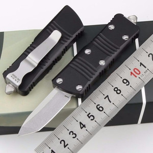 Mini Combat dragon dual action tanto D2 stonewashed automatic auto knife Pocket Survival hunting camping Xmas gift knives for man