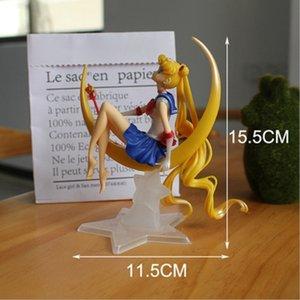 Japanese Anime 15CM Cartoon Sailor Moon Action Figures Moon Power Pvc Model Anime Collection Kid Gift Toy 1 Pcs