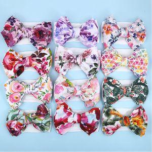 Ragazze Floral Tie-Tinked Fascia Bambini Big Bow Capel Band Bohemian Nefant Fandbands Neonato Soft Hairbands Head Wrap Turban YHM760