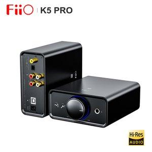 FiiO K5 Pro HiFi Audio AK4493 Deskstop Amplifier AMP DAC with RCA 6.35 3.5mm output USB-B OPT COAX RCA Input 768K 32Bit DSD512