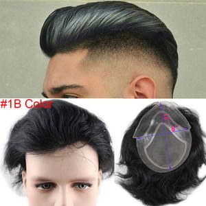 Человеческие волосы Topee для мужчин Натуральные прямые светлые коричневые Запасные волосы Eurowal Remy Hair Meen Wig 10x8
