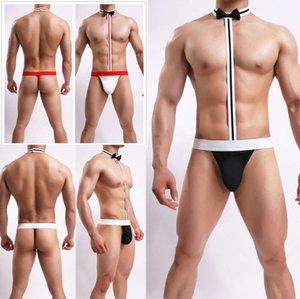 Noel erkekler sexy lingerie tanga iç çamaşırı bodysuit g-string ilmek külot