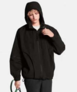 Adam Tasarımcılar Giysi Ceketler Paris Fermuar Kollu Kapüşonlu Hoodie Beyzbol Rahat Erkek Kış Mont Erkek Ceket Siyah 05