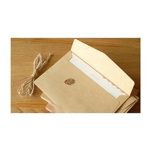 Commercio all'ingrosso- 100pcs 16x11cm Retro Kraft FAI DA TE Busta multifunzione / Buste regalo per matrimoni / Carta Kraft Wedding Jllphe Invia