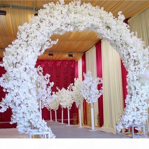 Quadro com blossoms Centerpieces Moda Branco Transporte de cereja Porta de cerejeira Conjunto para decoração do feriado Tiro adereços Free Wedding Vedbl