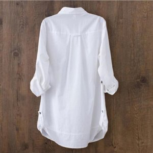 Casual Shirts Shirt 2020 New Women Fashion Clothes Slim Long Sleeve White Blouse Elegant OL Office Ladies Tops LY111
