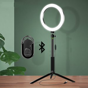for Streaming Lamp Light Photographic Lighting Ring with Circle Selfie Ringlight Shutter Tripod stand Bluetooth LED Live Video Nkotm