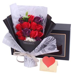 Preservado Eterno Jabón Rosa Ramo Regalo Regalo Día de San Valentín Regalo de cumpleaños Boda Navidad Rosa Rosa Rosa