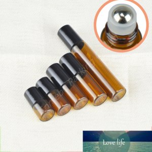 20 x 1ML 2ML 3ML 5ML 10ML glass roll on bottle for essential oils refillable perfume containers with stainless steel roller ball