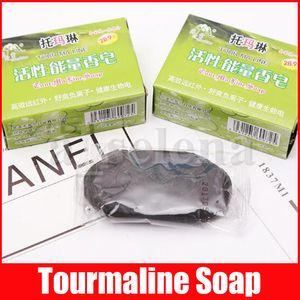 Handmade Active Energy Black Face Body Care Care Clear Tourmaline Sapone antibatterico Bamboo Bamboo Soap 70g