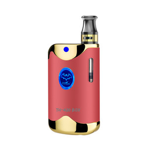 free shipping TH420 2 vaping box mod e cigarette preheat magnetic battery 510 thread 650mah e cigs vape kit including 0.5ml cartridge