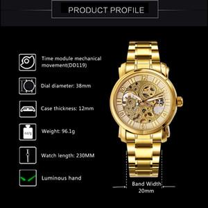 Women Men Luxury Watches 2019 WINNER Auto Mechanical Wristwatch Top Brand Luxury Ladies Skeleton Golden Clock relogio feminino