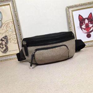Classic Style Mini Meni y mujeres Bolsas de cintura Bolsa de cuero genuino Mujeres Fanny Pack Impreso Designer Cintura para hombres 450946