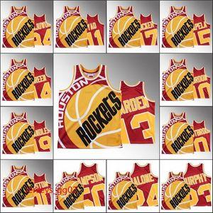 2020 hommes HoustonRoquettesJamesHarden Russell Westbrook Hakeem Olajuwon P.J. Tucker Big Face HwcJersey Custom NBA Rouge