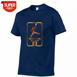 Men's shirt printed T-shirt o-neck 100% cotton sportswear jogging short sleeve fashion pattern large s-2xl #qx4e