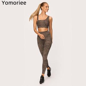Leopard Print Bra Trousers Sports Fitness Yoga Set Running Set Athletic Gym Sexy Women Workout Gymwear Top Leggings Tights