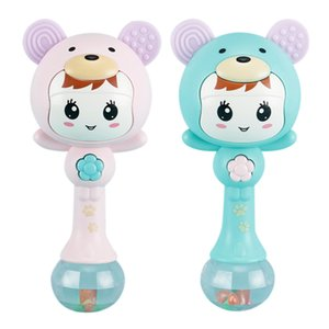 Baby Bunny Music Teether Rattle لعبة للأطفال 0-12 التعليم المهد المحمول الاطفال السرير بيل الوليد عربة سرير الرضيع مصاصة ويب q1214