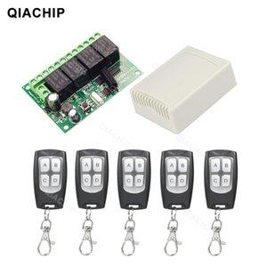 QIACHIP 433MHz RF 원격 제어 회로 범용 무선 스위치 DC 6V 12V 24V 2CH RF 릴레이 수신기 및 KEYFOB 송신기