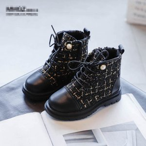 Fashion girls boots pearl kids boots autumn winter new 2020 girls shoes kids shoes girls Martin boots kids ankle boot retail B3001