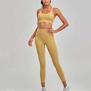 Йога набор фитнес тренировки одежда женщин адаптация нагота с косметизацией кожи спортивный бюстгальтер ребристые поясницы легинги наседаний