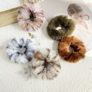 Cute Soft Fur Hair Ties Women Girl Elastic Hair Ties for Gift Party Fashion Hair Accessories Wholesale Price