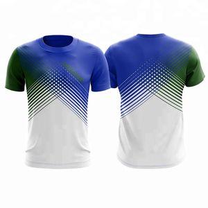 NOUVEAU Style Dédigoir rapide Badminton sèche, T-shirt de sport sur mesure, chemises de tennis, t-shirt de tennis mâle / femelle, t-shirt de tennis de table