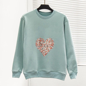 Mode für Frauen Sweatshirt Top große Qualität Super-Cosy Liberty-Patch-Langarm-Retro Sweatshirts Frauen Herbst-Winter-Hip Hop Sweat Shirt